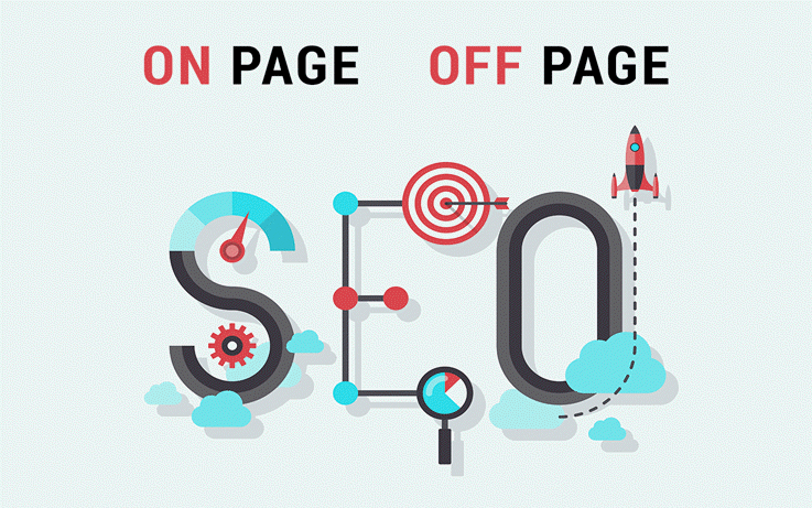 SEO on page i SEO off page